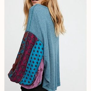 Free People | Oversized Blue Blossom Thermal